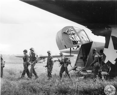 7th Army leaving gliders