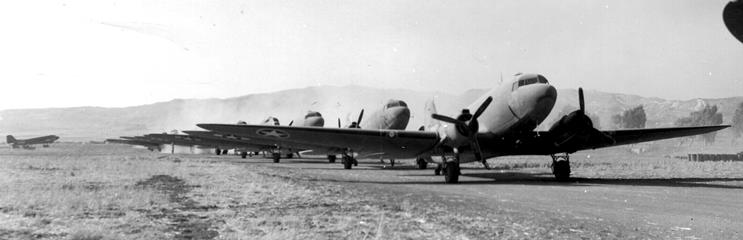 C-47s loaded with troops Ready for Take off. African Air Force